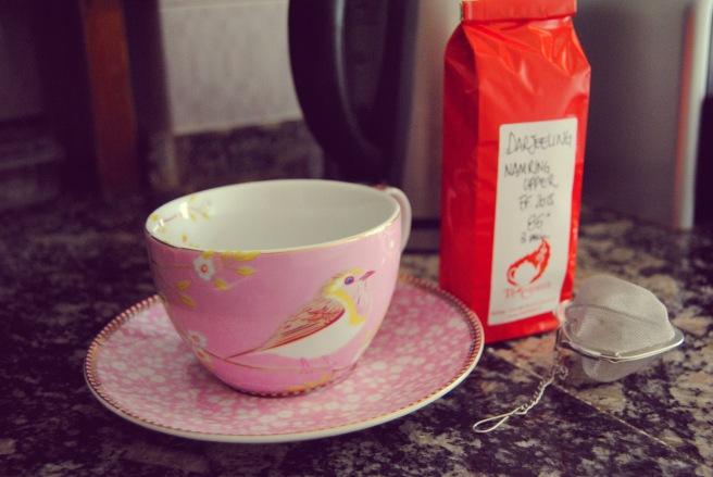tazza tè e colino